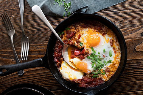 Cosmo's baked eggs