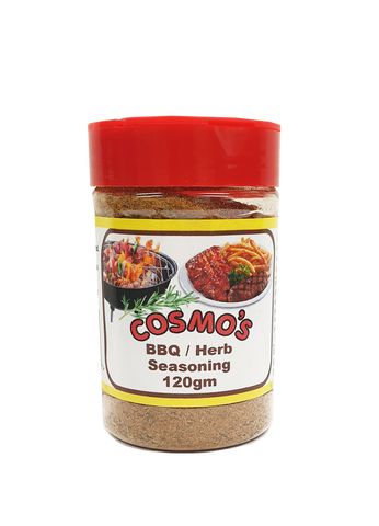 Cosmo's BBQ / Herb Seasoning retail shaker 120gm