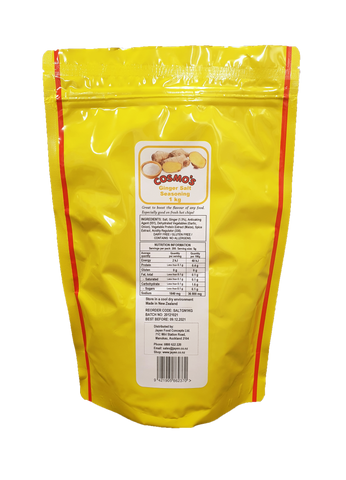 Cosmo's Ginger Salt Seasoning 1kg Bag