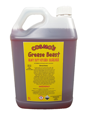 Cosmo's Grease Beast Heavy Duty Oven Cleaner 5L