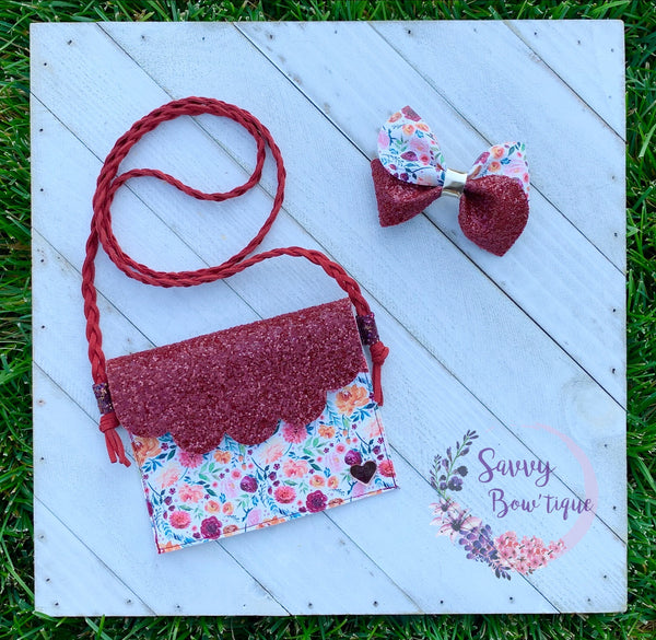 Wildy Lavish Floral Purse/Bow Combo