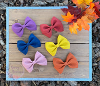 Solid Faux Suede Bow