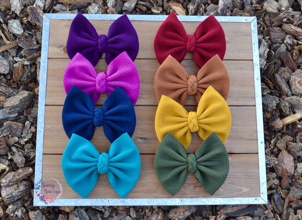 Fall Solids Fabric Bows