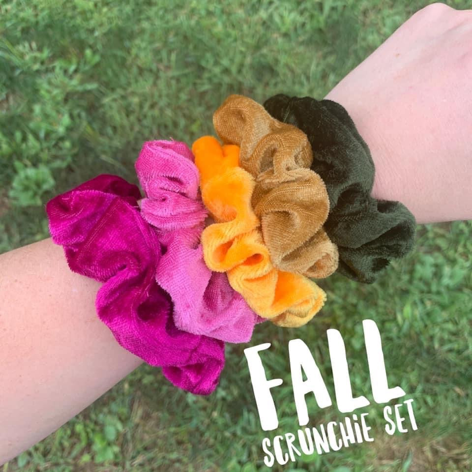Fall Scrunchie Set