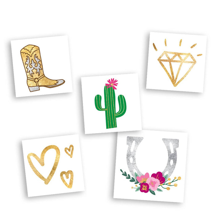 Western Wedding Variety Set - Temporary Tattoo