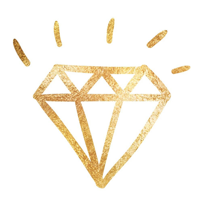 Classic Diamond Temporary Tattoo