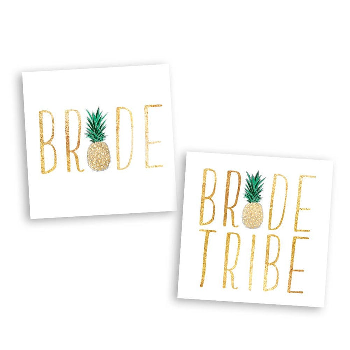 Bachelorette Bling Pineapple Variety Set - Temporary Tattoo
