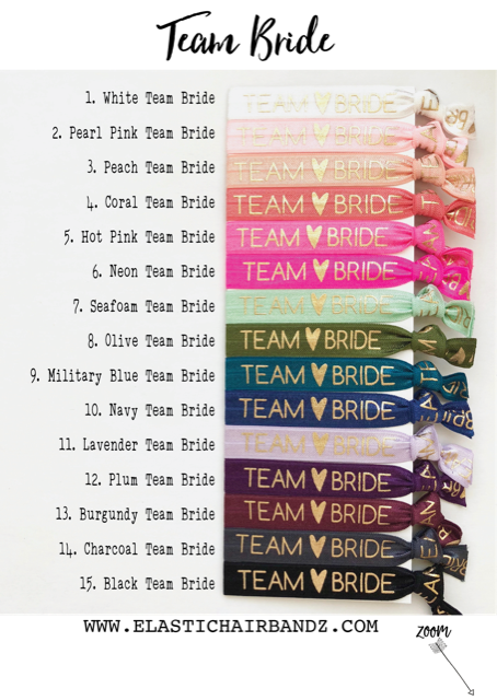 Bridesmaid Gift Hair Ties | Thank you for helping us tie the knot |  Wedding Favors