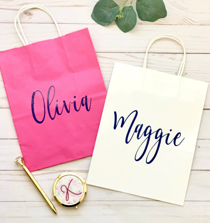 Personalized Gift Bag, Custom Gift Bag, Bridesmaid Gift Bag, Bachelorette Party Gift Bag, Bridesmaid Bag, Personalized Bag, Wedding Gift Bag