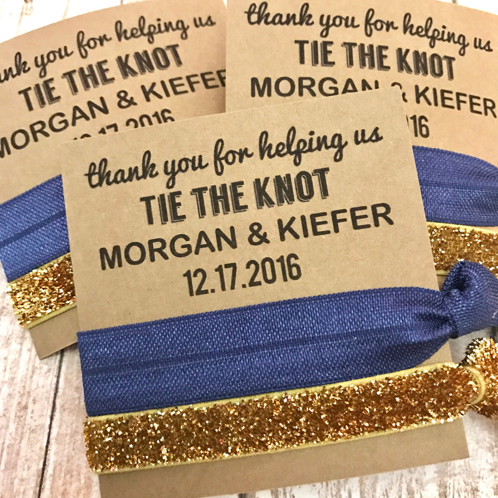 Thank you for helping us tie the knot Wedding Favors | Hair Tie Party Favor -| Bridal Party Favors Gift