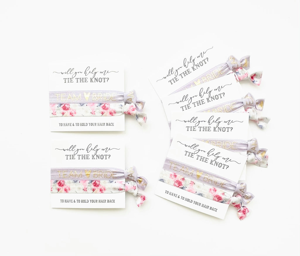 Will you help me tie the knot Bridal Party Favor Gifts
