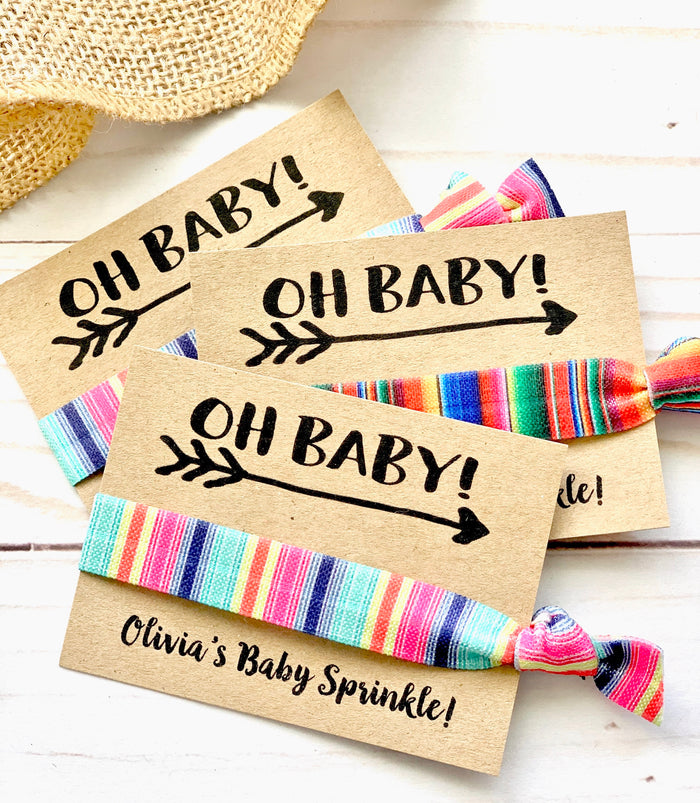 Oh Baby! Baby Shower Hair Tie Favor, Unique Baby Shower Favors Girl, Boy