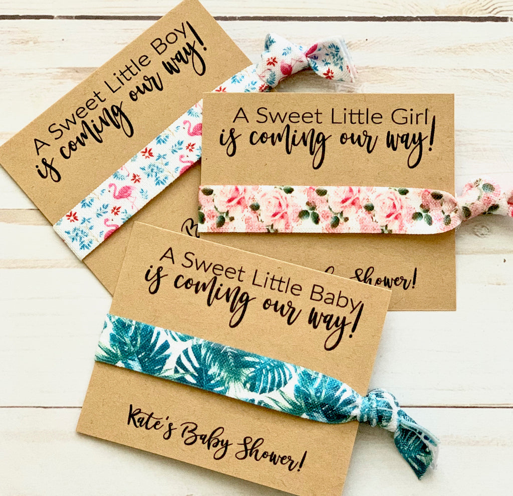 Baby Shower Favors | Hair Tie Favor, Girl, Boy, Thank you favors