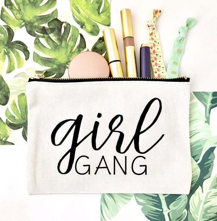 Girl Gang Bridesmaid Cosmetic Bag, Makeup Bag
