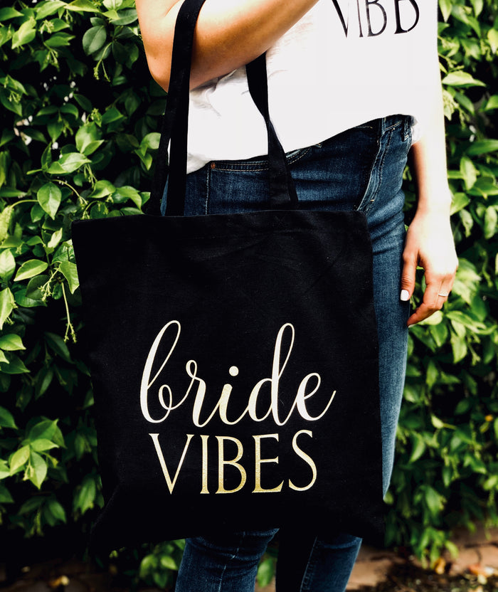 Bride Vibes Tote Bag - Canvas Bag