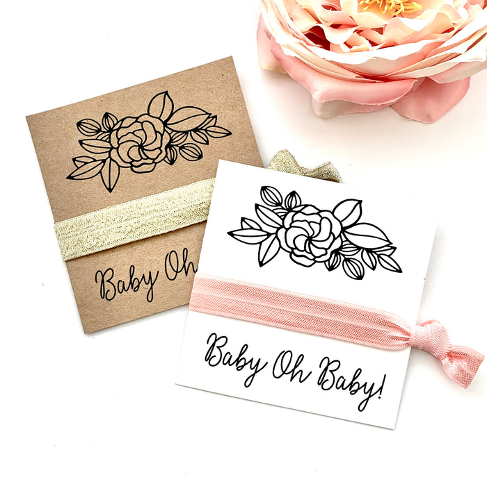 Baby Oh Baby! Baby Shower Favors | Hair Tie Favor, Unique Baby Shower Favors Girl, Boy