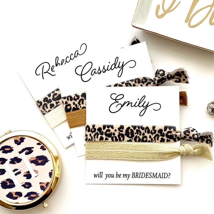 Personalized Will you be my Bridesmaid Proposal Hair Tie Favor, Bridesmaid Proposal