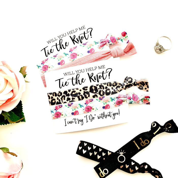 "Will you be my Bridesmaid Proposal Hair Tie Favor, Bridesmaid Proposal I can't say ""I Do"""