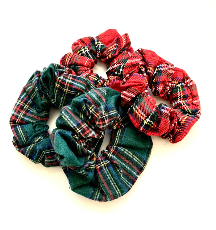 Holiday Plaid Scrunchies, Ponytail Scrunchie