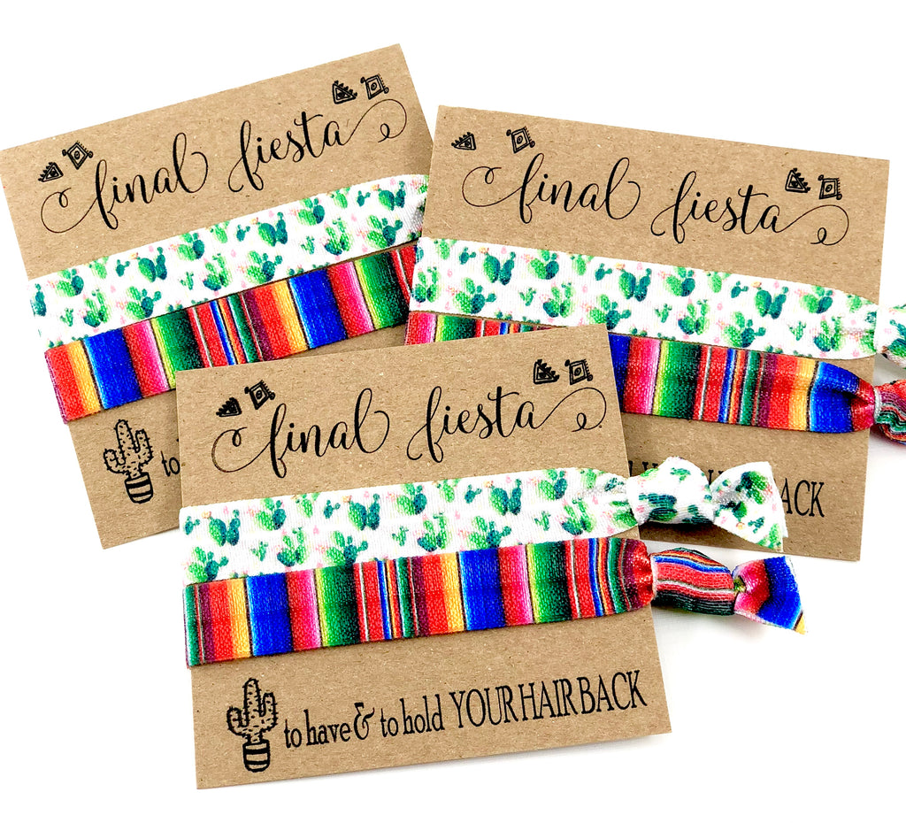 Bachelorette Party Favor, Hair Tie Favor, Final Fiesta Bachelorette, Mexico Bachelorette, To have & to hold