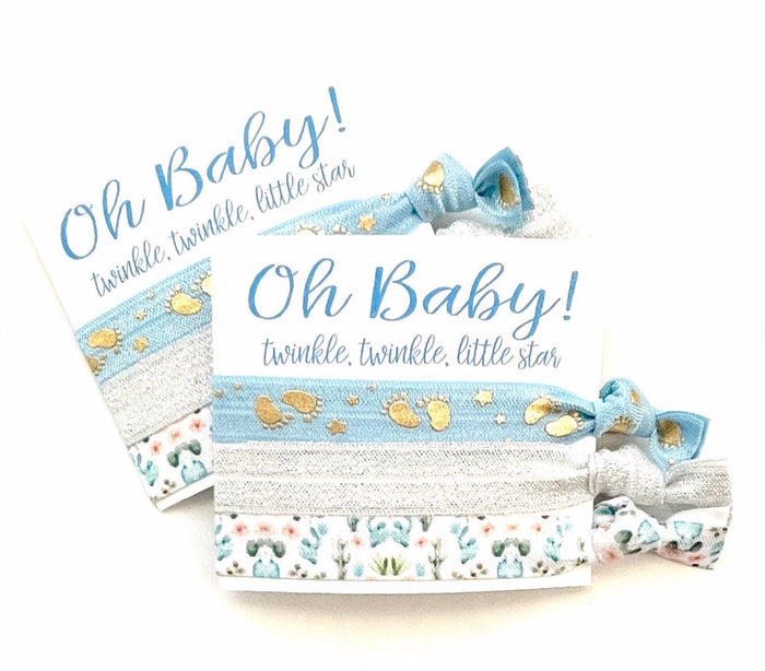 OH Baby! Baby Shower Favors | Hair Tie Favor, Unique Baby Shower Favors Girl, Boy