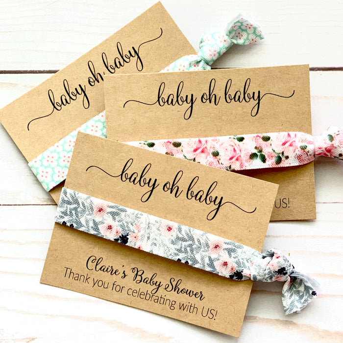 Baby Shower Favors | Baby Oh Baby! | Hair Tie Favor, Boy or Girl Thank you