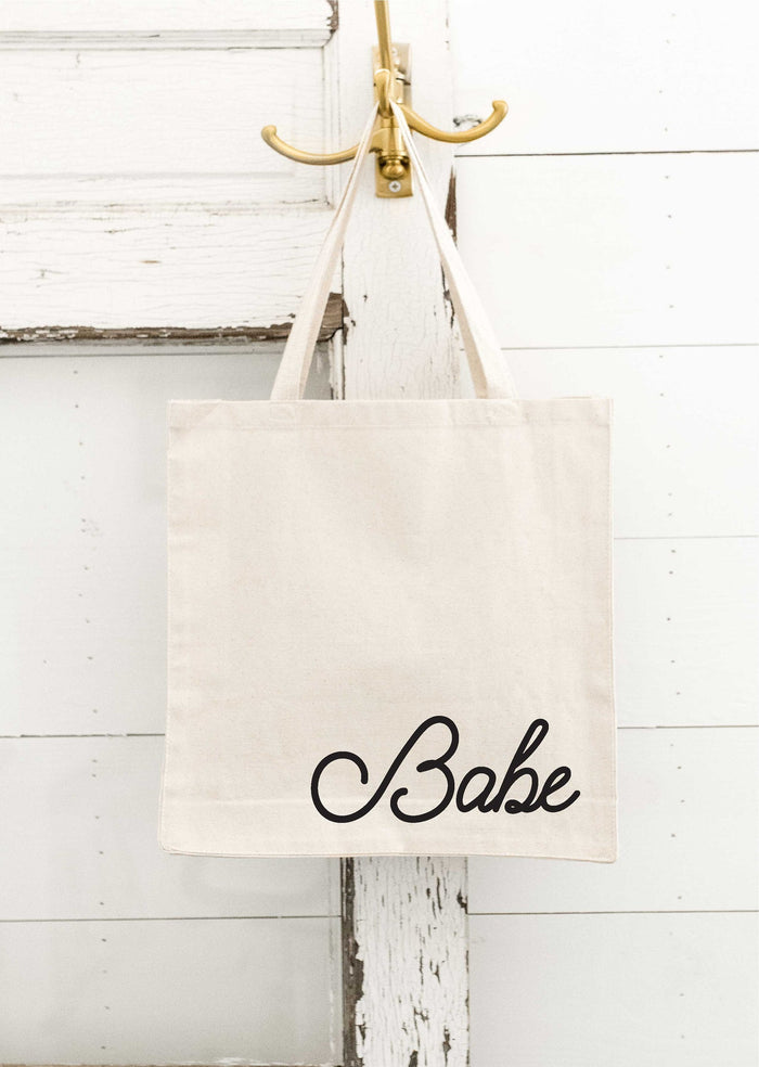 Babe Tote Bag, Canvas Tote Bag, Bride Tote Bag, Babe of Honor, bachelorette, Beach Bachelorette, Personalized Bag