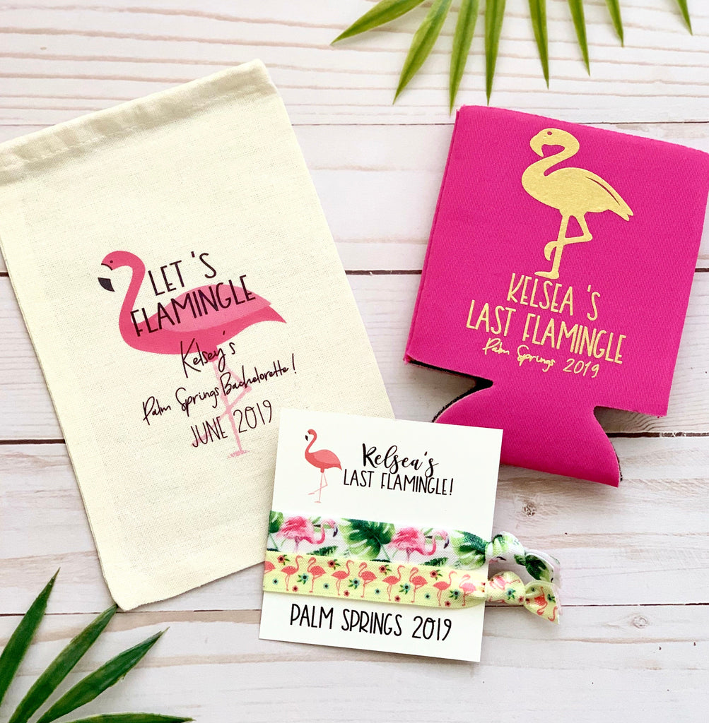 Let's Flamingle Hangover Bag, Goody Bag, Treat Bag, Gift Bag, Personalized Gift Bag, Bachelorette Favors, Personalized Hangover Kit