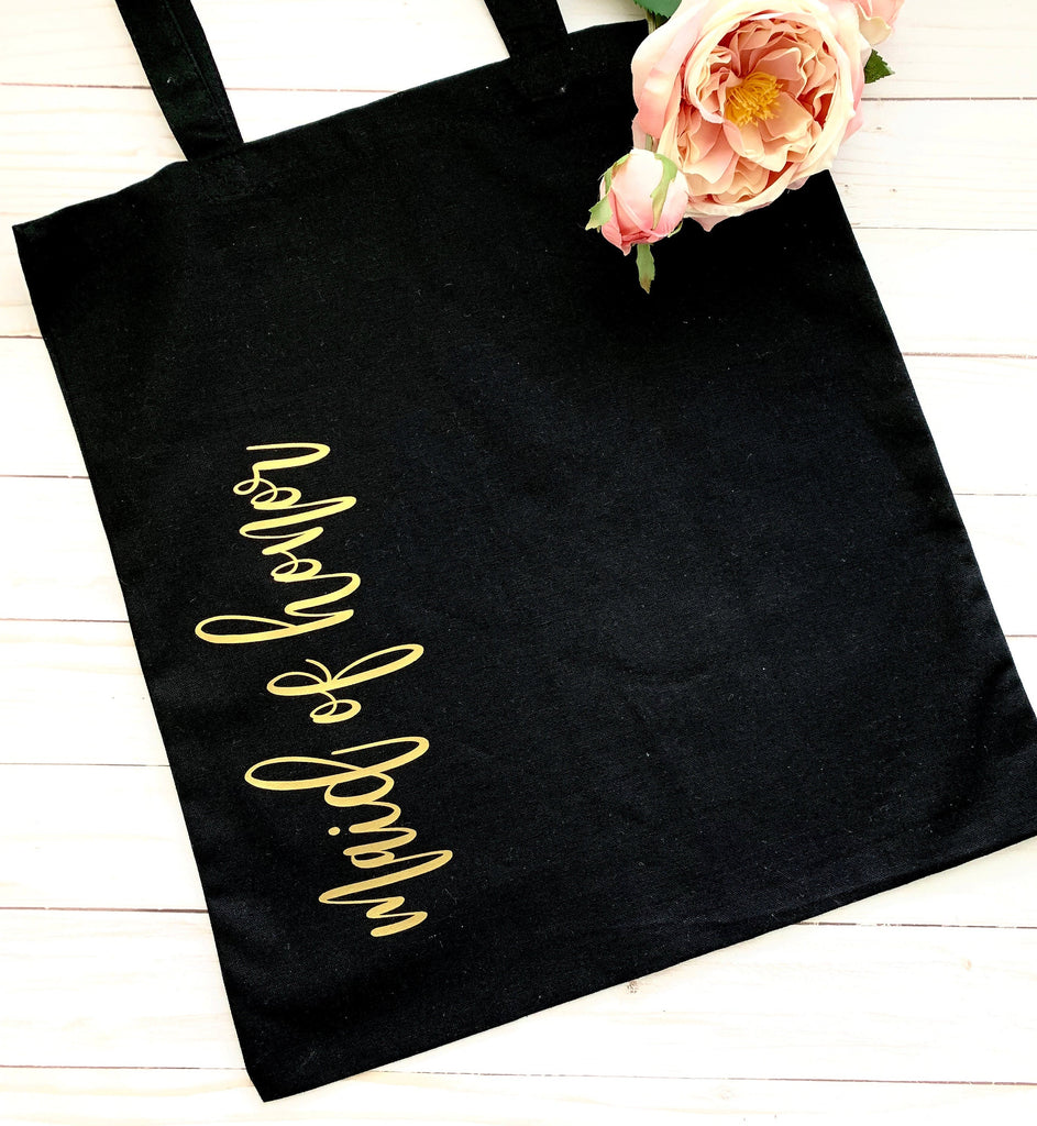 BRIDESMAID Tote Bag, Bridesmaid Gift, Gift for Bridesmaid, Gift for Woman, Bridal party gifts, personalized tote bag
