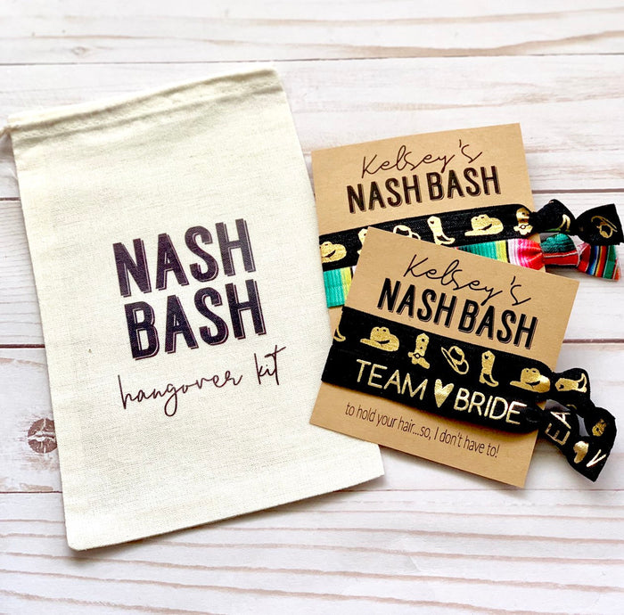NASH Bash Hangover Kit Bags, Bachelorette Party Favors Bags, Nashville Bachelorette, Favor Bags, Personalized Bags