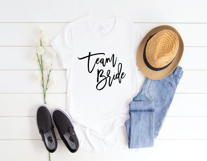 Girlfriend, Fiancee T-Shirts, SEMI-fitted, Crew Neck, Perfect Bride Gift for you or your BFF