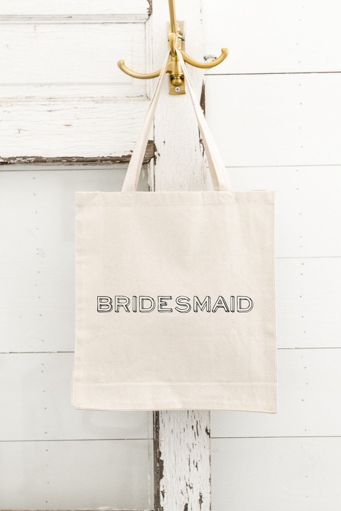 BRIDESMAID Tote Bag, Canvas Tote Bag, Bride Tote Bag, Maid of Honor,  bachelorette, Beach Bachelorette