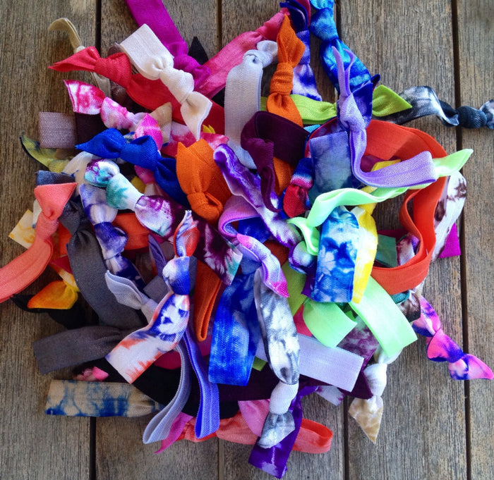 100 Assorted Wholesale Hair Ties-Ponytail Holders