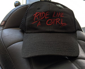 Ride Like A Girl Snap Back Hat