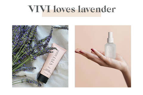vita+ and Root 66 products with lavender oil