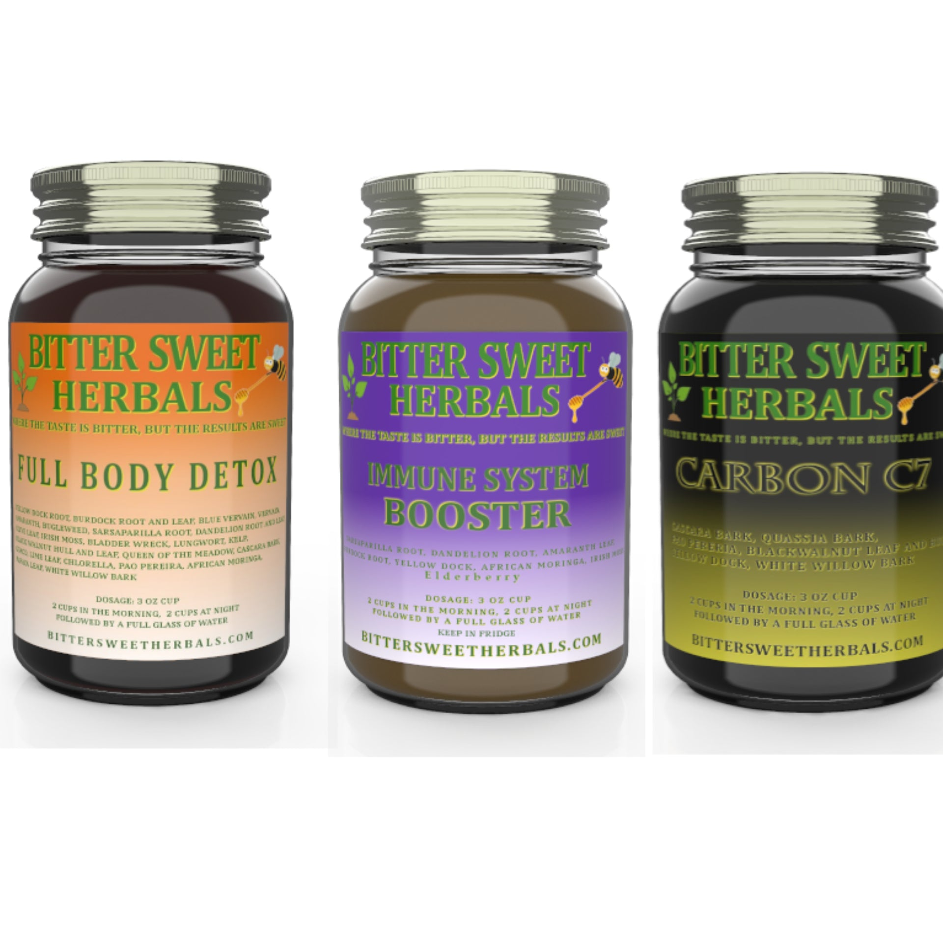 Bundle Pack - Full Body Detox + Immune System Booster + Carbon C7