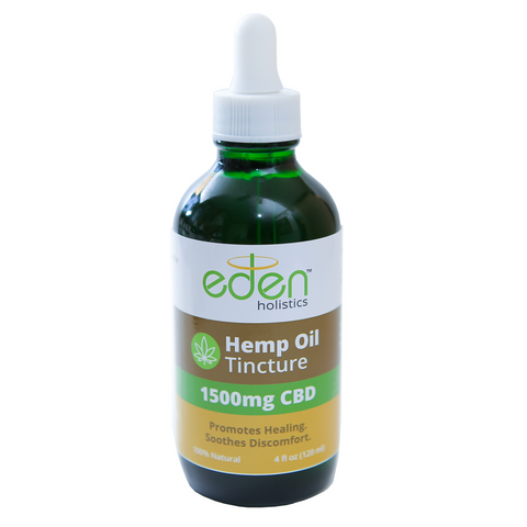 4oz - 1500mg Hemp Oil Tincture - THC Free