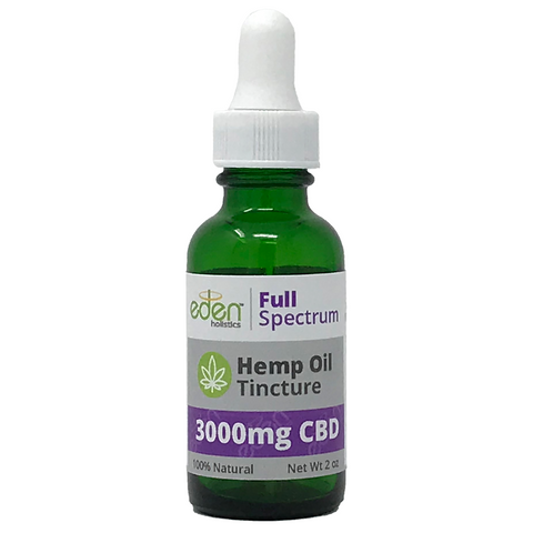 1oz - 3000mg Hemp Oil Tincture - Full Spectrum - 0.3% THC