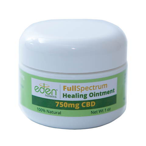 1oz - 750mg Healing Ointment - Full Spectrum - 0.3% THC