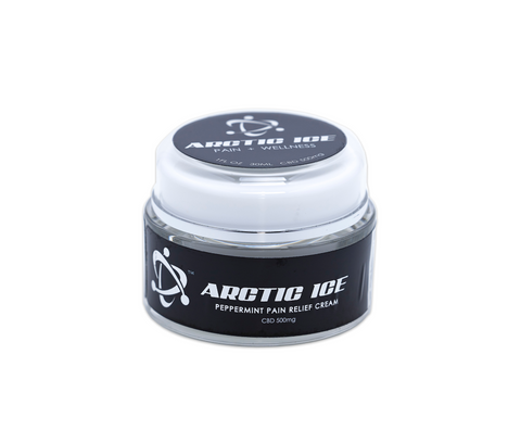 1oz - Arctic Ice Hemp Derived CBD Peppermint Pain Relief Cream 500MG