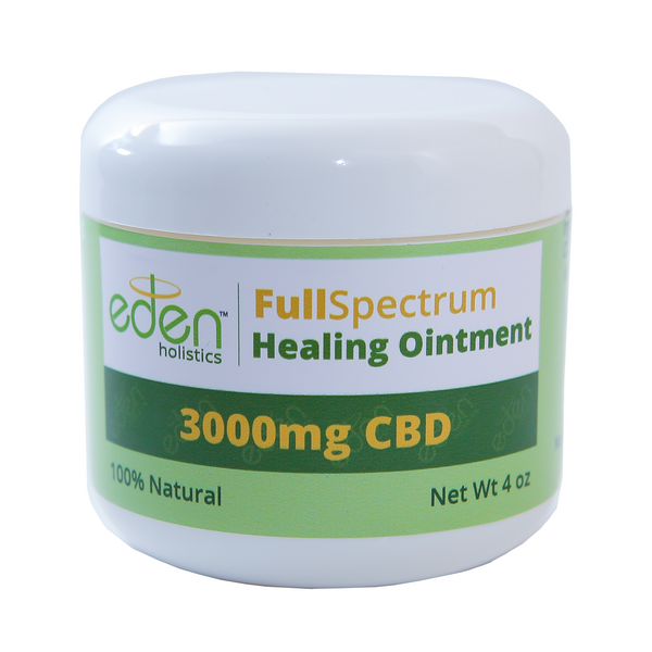 Eden Holistics 4oz - 3,000mg Healing Cream - FULL SPECTRUM 0.3% THC