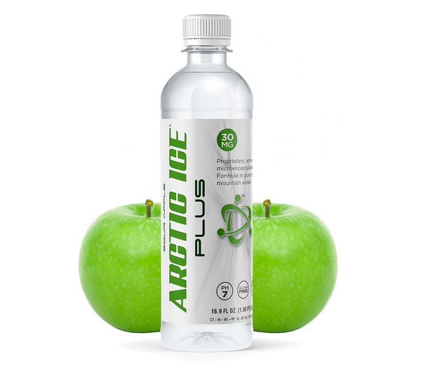 16.9oz - 30mg Arctic Ice Plus Green Apple Flavored Water Infused With Hemp Extract