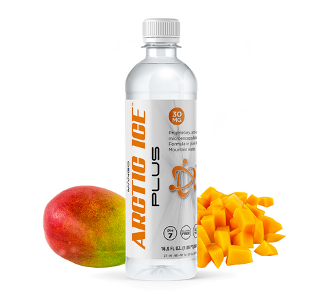 16.9oz - 30mg Arctic Ice Plus Mango Flavored Water Infused With Hemp Extract