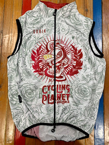 chaleco Cycling Planet Ride or Die  blanco