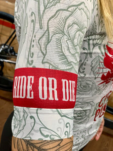 maillot manga corta ride or die blanco CX pro
