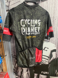 maillot carrera cycling planet ride or die negro