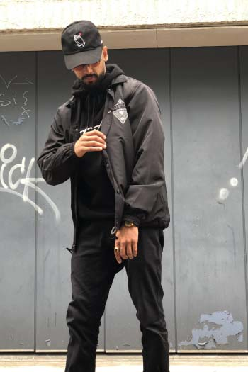 STEALTH SOCIETY COACH JKT BLACK - TRAMPHAÜS LONDON