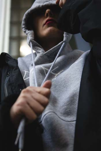 INK SIGNATURE GREY HOODIE - TRAMPHAÜS LONDON