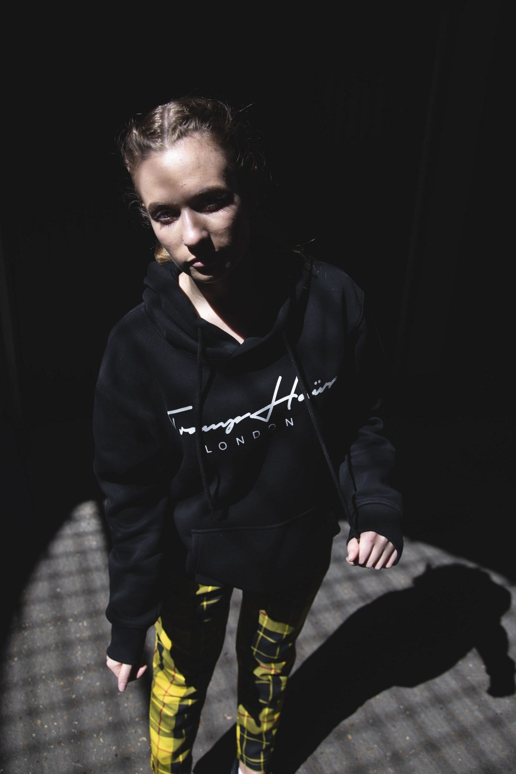INK SIGNATURE BLACK HOODIE - TRAMPHAÜS LONDON
