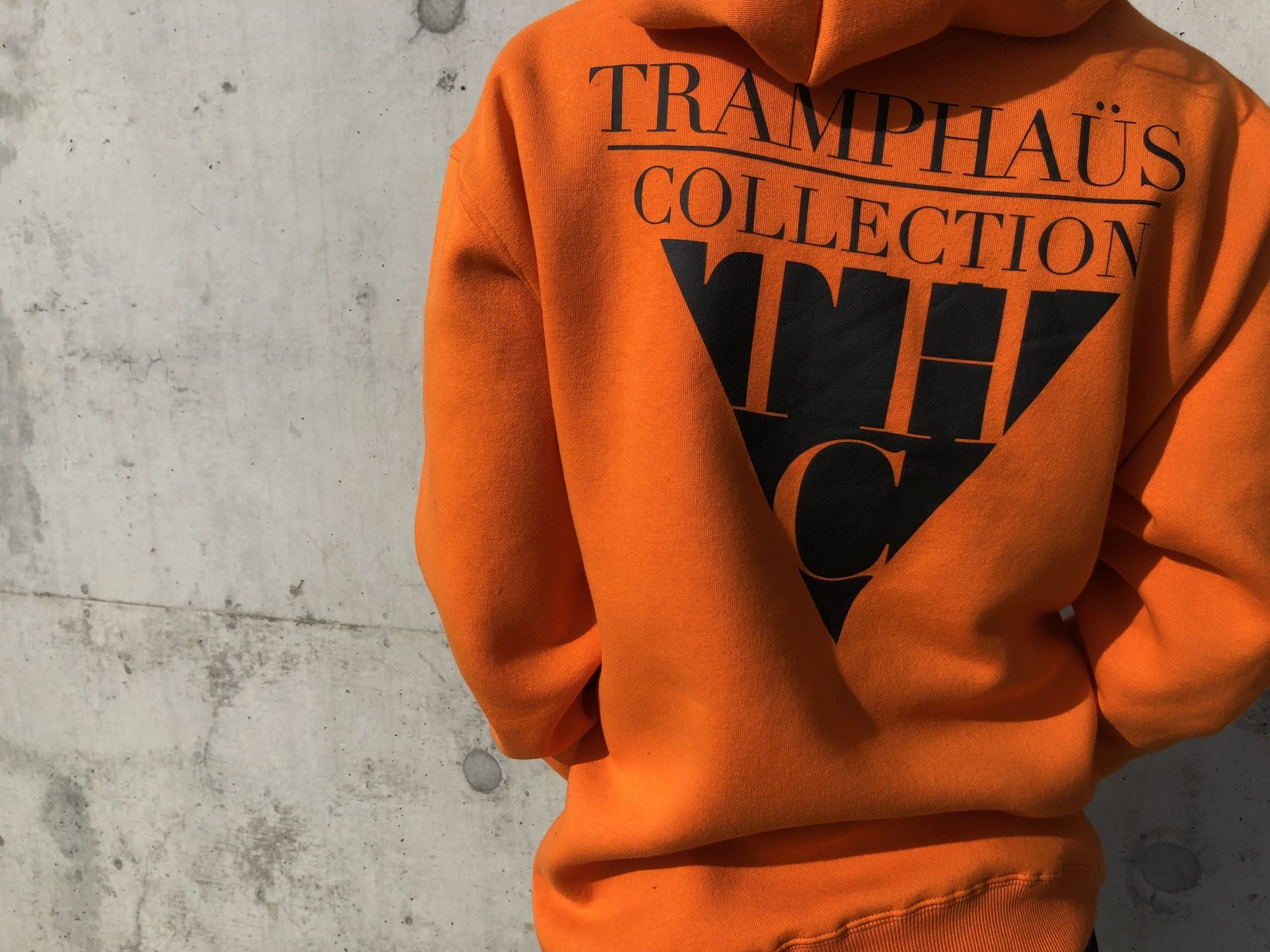 *KOLOÜRDROP* ORANGE VOGUE HOODIE - TRAMPHAÜS LONDON